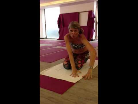 'how to get into bikram hot yoga savasana'  youtube