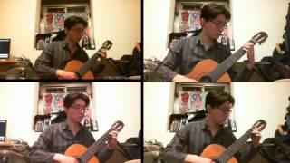 pachelbel canon in d major classical guitar quartet