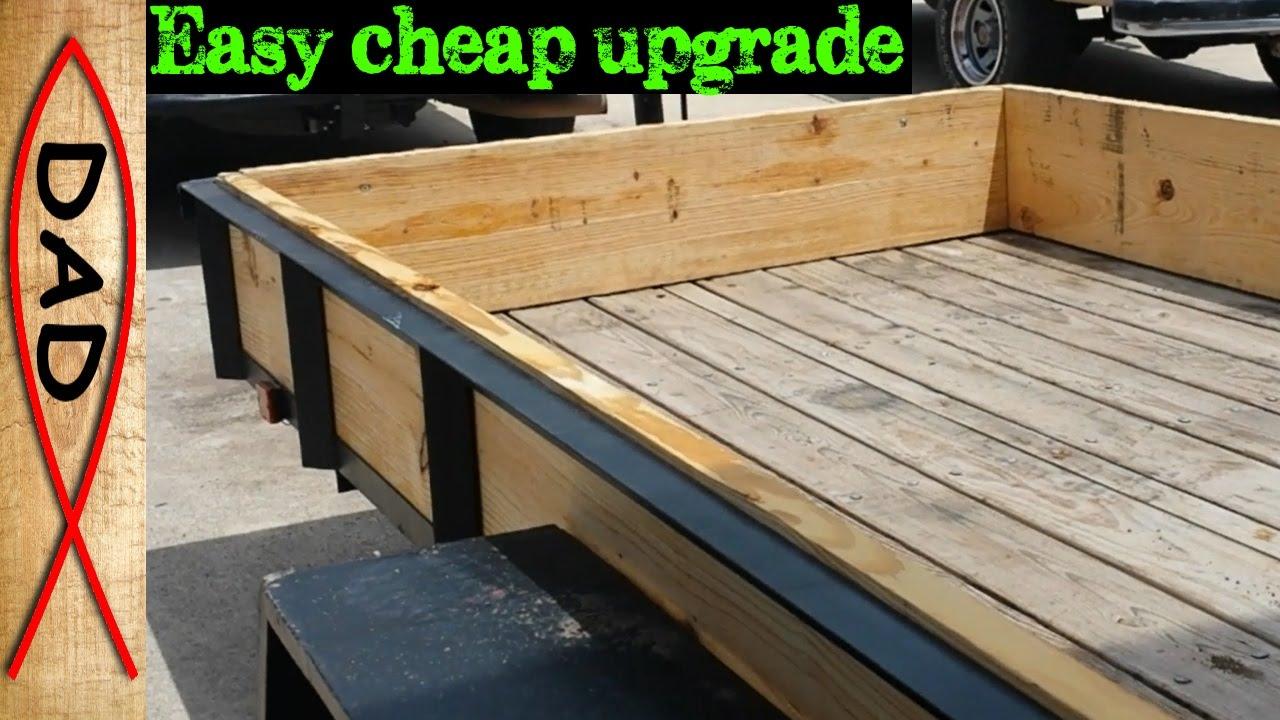 Diy Utility Trailer Sides And Ramps For Cargo Youtube