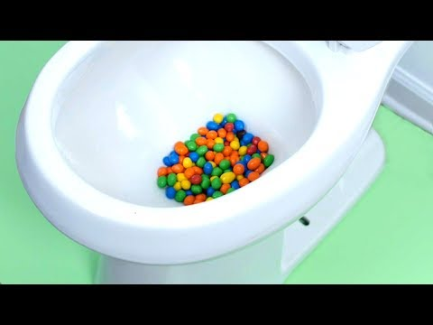 M&MS CANDY STUCK IN TOILET!