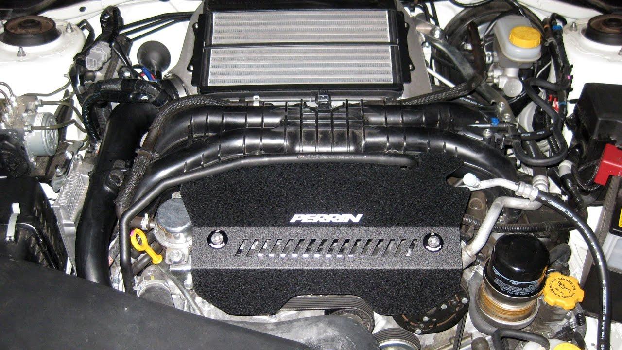 Black Perrin Pulley Cover for Subaru 2015-2019 WRX
