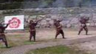 Matchlock guns at Azuchi Nobunaga Festival 安土信長まつり