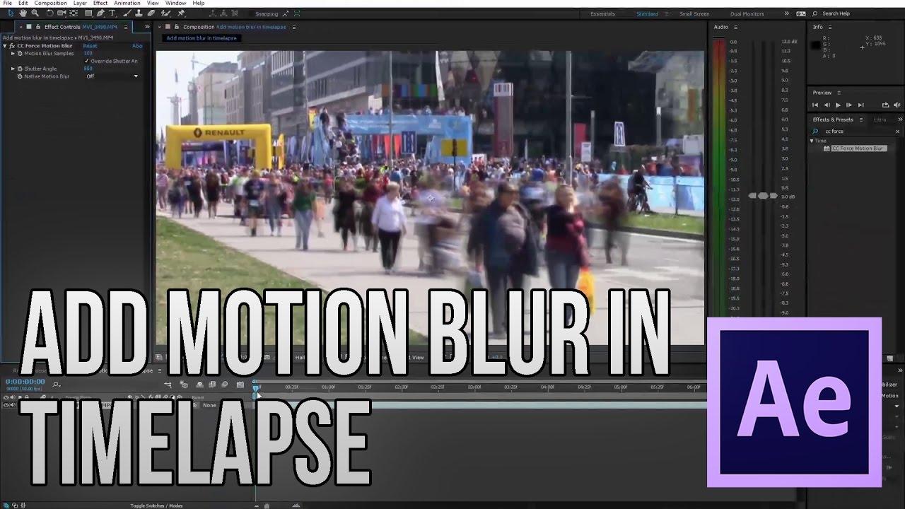 Video's van Motion blur after effects tutorial