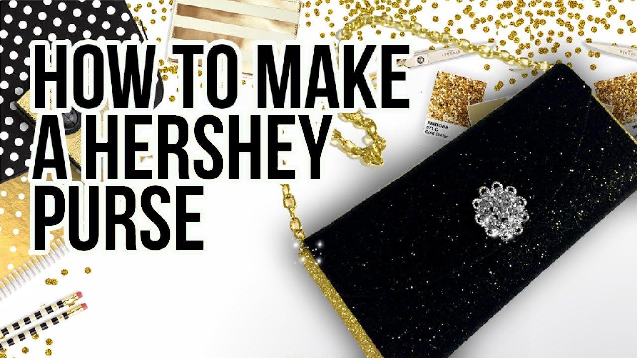 how to make a hershey purse tutorial