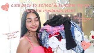 my freshman back to school/summer try-on haul for 2019! (princess polly)