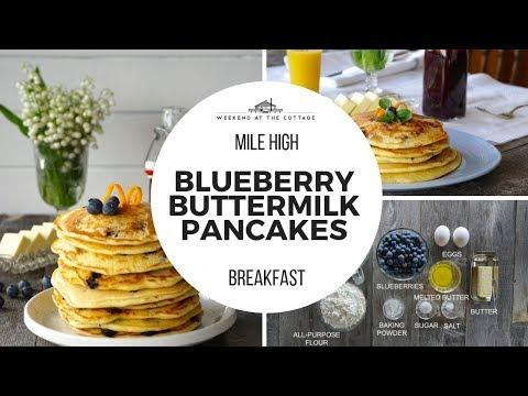 BLUEBERRY BUTTERMILK PANCAKES | Light, Fluffy, Easy!!!