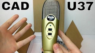 cad u37 usb condenser microphone unboxing review
