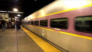Amtrak and MBTA HD: Boston Back Bay Station Action 8/20/13