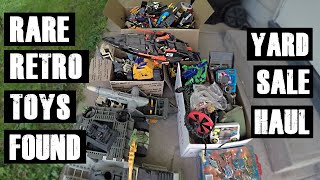 HUGE Retro GI JOE And TRANSFORMERS Vintage Toy Haul From Garage RARE STUFF!