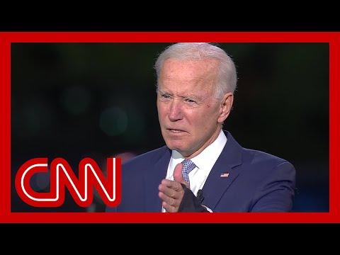 See the moment Joe Biden got upset at CNN town hall
