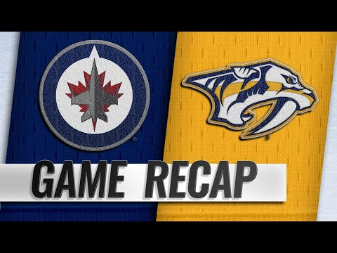 Lemieux's two goals help Jets take down Predators