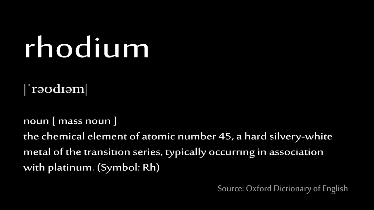 45 Rhodium How To Pronounce Chemical Elements Periodic Table