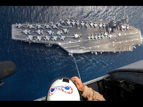 Aerial Views And Twilight Flight Operations Aboard The USS Dwight D  Eisenhower