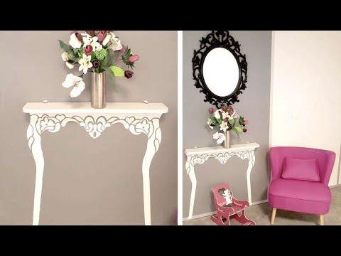 pochoir fabriquer une console youtube. Black Bedroom Furniture Sets. Home Design Ideas