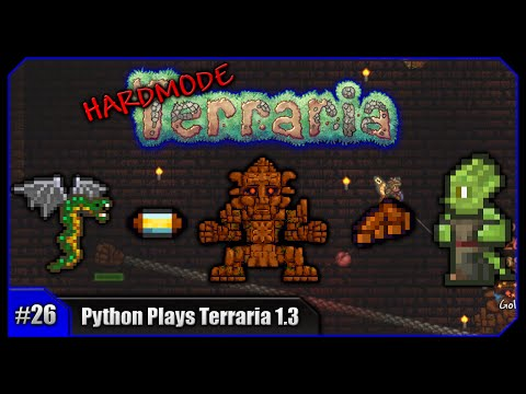 Python Plays Terraria || Jungle Temple Looting & Golem Farming! || Terraria 1.3 PC Let's Play [#26]