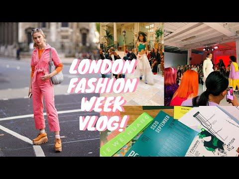 LONDON FASHION WEEK VLOG - Shows, Street Style \u0026 Fun!