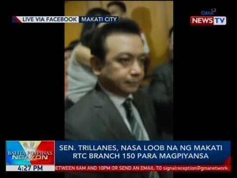 BP: Sen. Trillanes, nasa loob na ng Makati RTC Branch 150 para magpiyansa