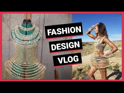Fashion Design Vlog with Wearable Art Costume Designer. Haute Couture and Avant Garde Style!
