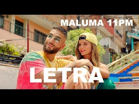 Maluma – 11 PM (Lyrics/Letra)