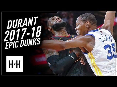 Kevin Durant ALL DUNKS from 2017-2018 NBA Season! CRAZY Compilation!