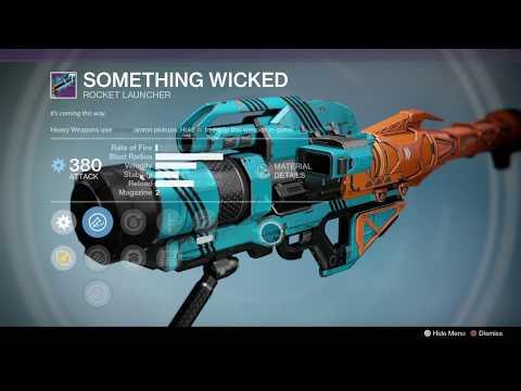 Destiny 1, Vendor & Faction Weapons (12-24-19)