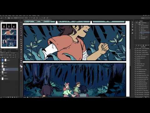 Lumberjanes Beyond Bayleaf - coloring timelapse