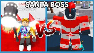 I Defeated The Giant Santa Boss After I Got This Insane Hammer in Roblox Saber Simulator