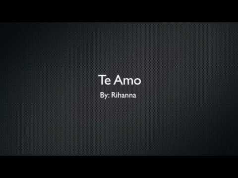Te amo-Rihanna (instrumental)