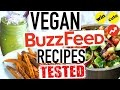 Buzzfeed Food Recipes! Vegan Taste Test!