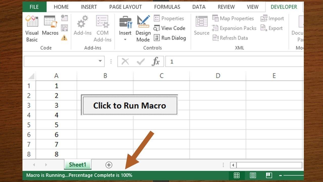 VBA to Show Progress on Status Bar for Macro Running Status