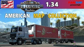 AMERICAN MAP COLLECTION 🚚 ATS 1.34 - Największa mapa do ATSa