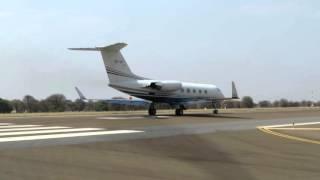 Gulfstream III Takeoff from Maun, Botswana