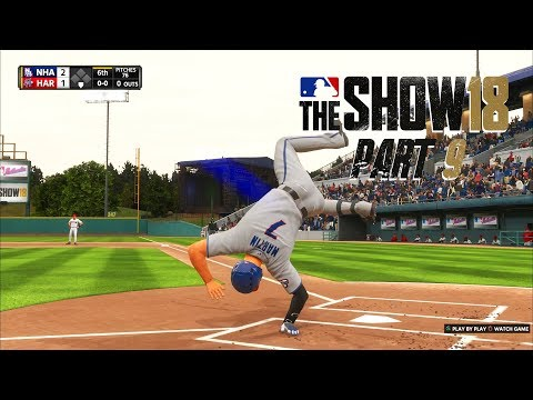 MLB 18 Road to the Show - Part 9 - MY FIRST HOME RUN!
