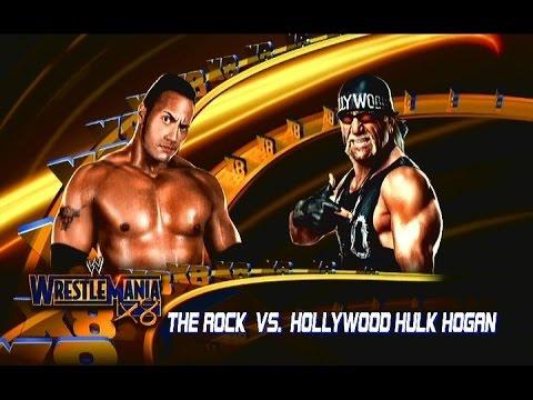 WWE 2K14   WrestleMania 18   The Rock vs Hollywood Hulk Hogan