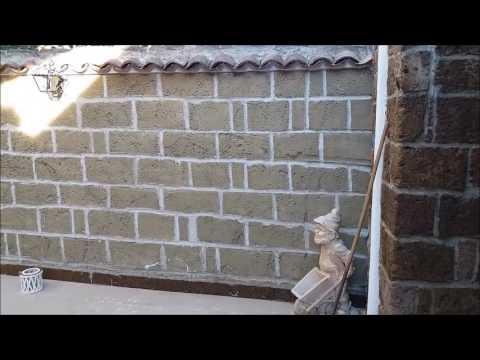 edil art finta pietra di tufo e mattoncini in polistirolo