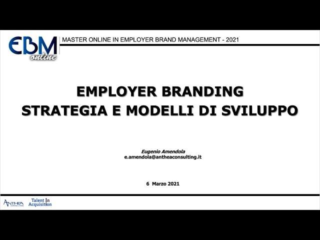 1° Modulo Master EBM Online