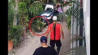 Víctima de atraco arrolla con su carro a un ladrón en concurrida calle de Medellín