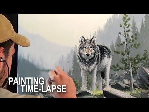 PAINTING TIME-LAPSE | Acrylic/oil on canvas