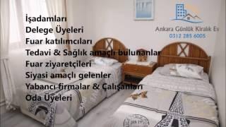 Ankara Mobilyalı Aylık Kiralık Evler   0312 285 60 05