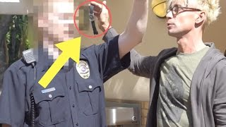NEVER do this to a COP!! Magic Prank!