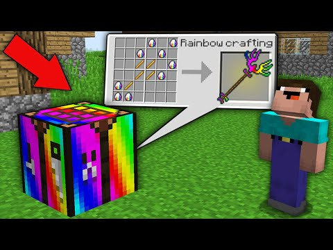 Minecraft NOOB Vs PRO: HOW NOOB CRAFTED RAINBOW TRIDENT IN THIS BIGGEST CRAFTING TABLE?100% Trolling