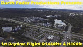 DJI Phantom 3 Standard Daytime flight. Distance and height test.