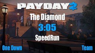 Payday 2 Speedrun The Diamond OD 3:05(WR,Glitch)
