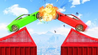 MILE HIGH SUPERCAR DEMOLITION DERBY! (GTA 5 Funny Moments)