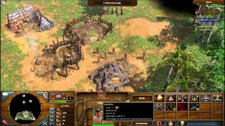 AOE III The War Chiefs: Sioux Gameplay part 1