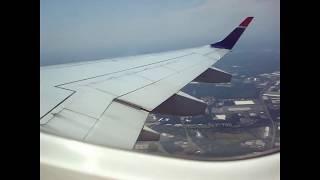 US Airways EMB-190 Takeoff  CLT-ILM (N960UW)