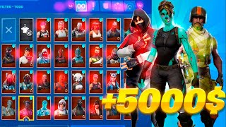 SHOWING MY TAQUILLA AND ALL MY SKINS (Fortnite) (Chetalonso)
