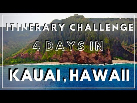 Exploring KAUAI, HAWAII in 4 DAYS! A NEW Travel Itinerary Challenge Series