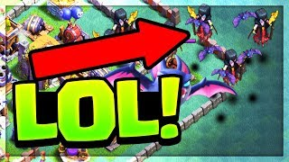 The MIRACLE LEAPING Night Witch! Clash of Clans Builder Base Action!
