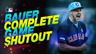 Trevor Bauer shuts down Tigers on Father's Day!